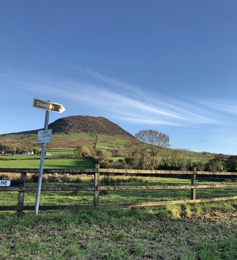 ^ Probably the most accurate brown sign post in Ireland. Yep, that's Slemish.