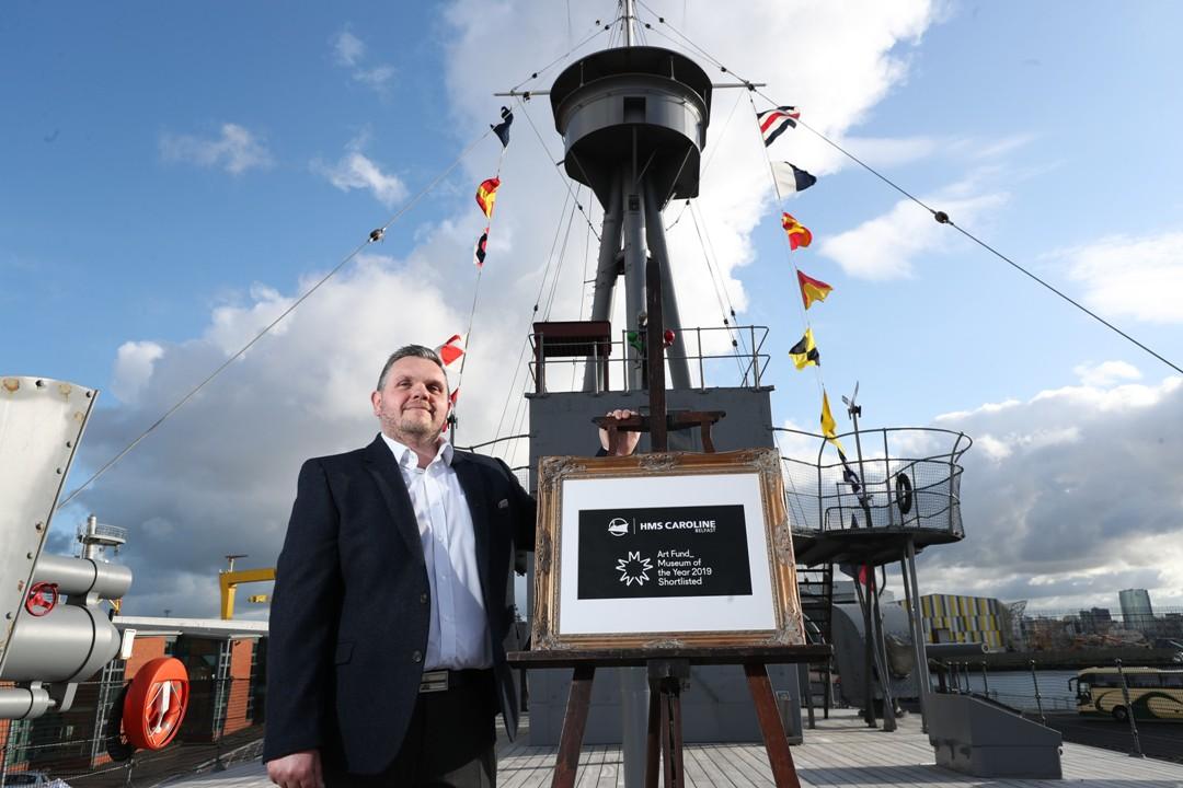 HMS CAROLINE SHORTLISTED FOR AWARD -