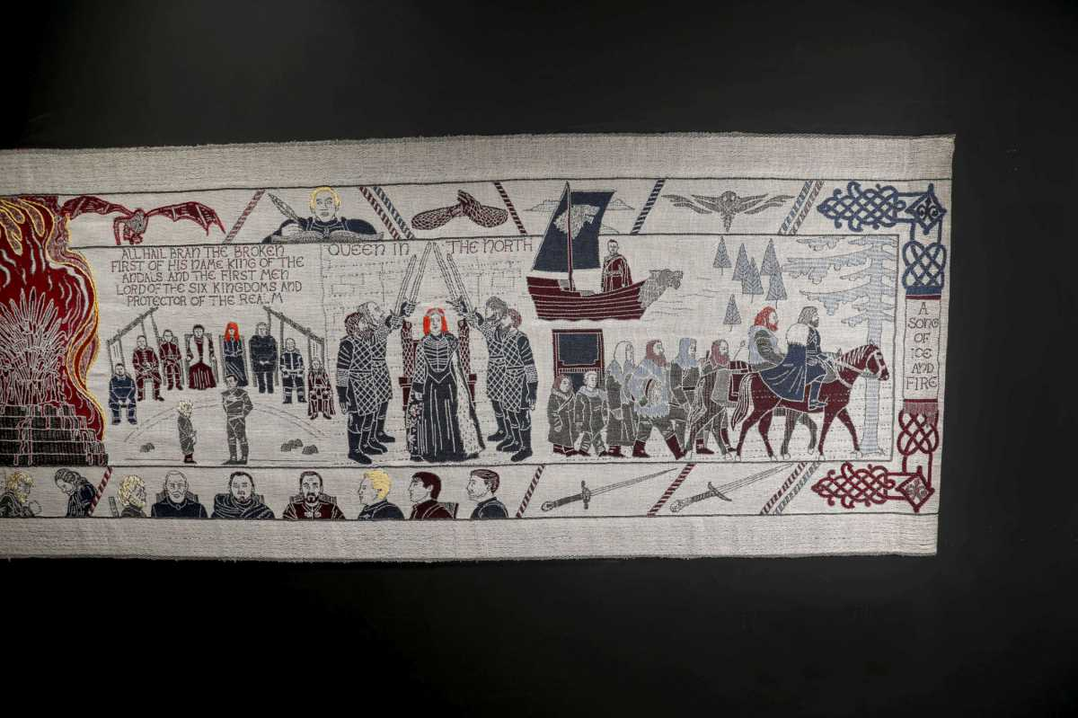 GAME OF THRONES TAPESTRY - Final Section Unveiled