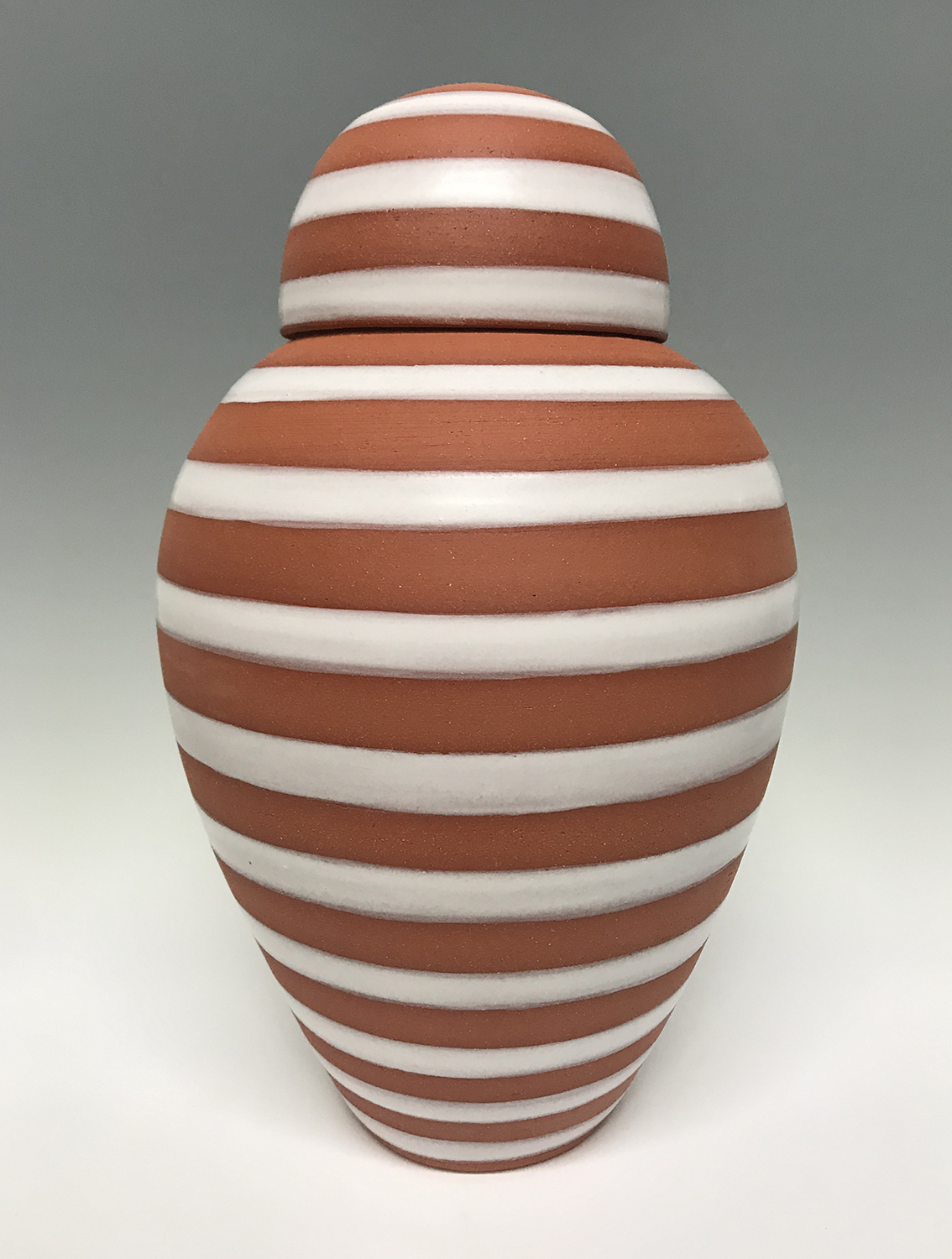 Copy of Urn with Stonehenge Glaze, 2019, terra cotta, 8.5 x 8.5 x 14 inches