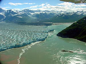 The rapidly advancing Hubbard Glacier. Source: U.S. Forest Service