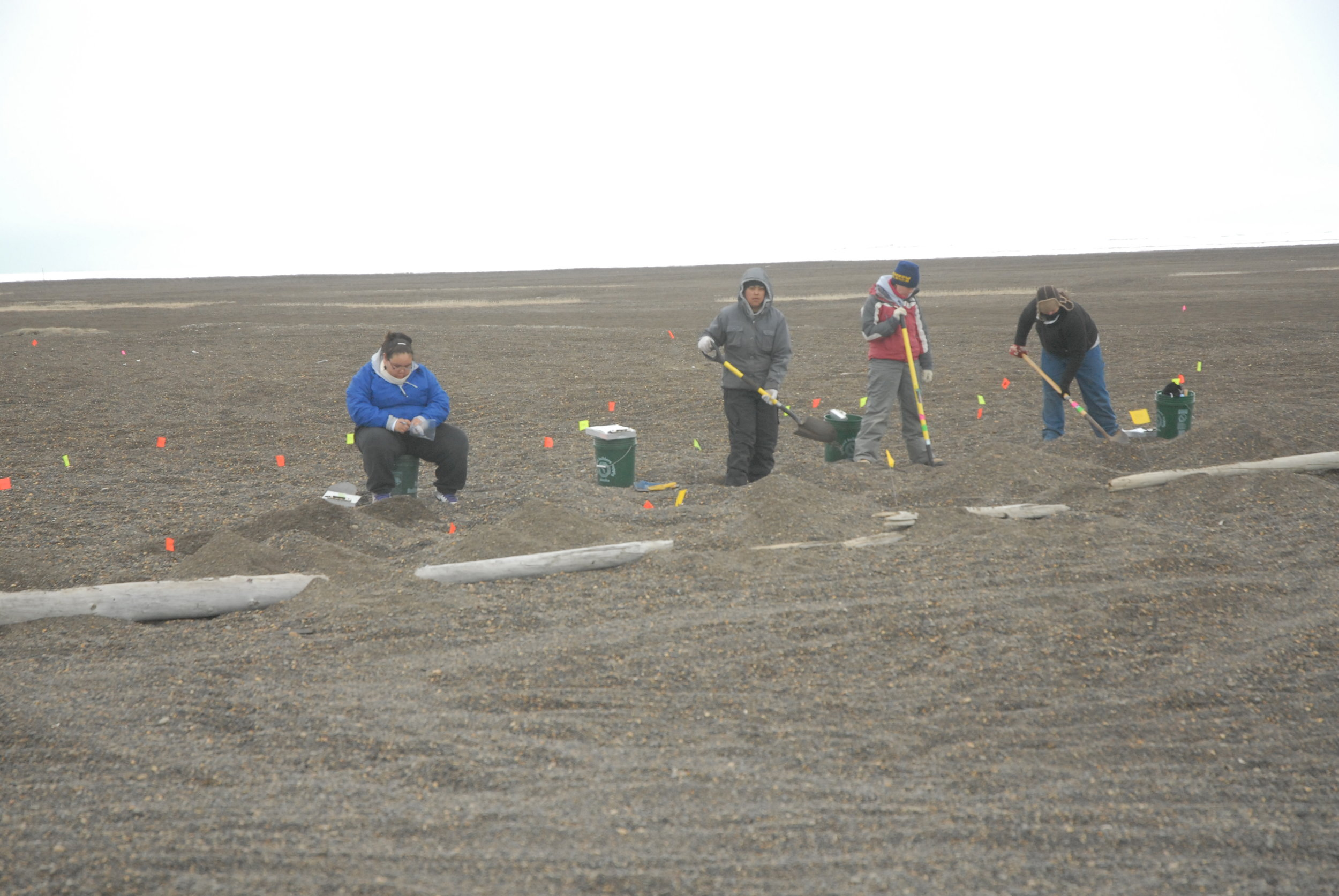 They're not digging for sand castles. North Slope high school students get the unique experiential educational experience of working on a professional excavation team at the Nuvuk dig site.