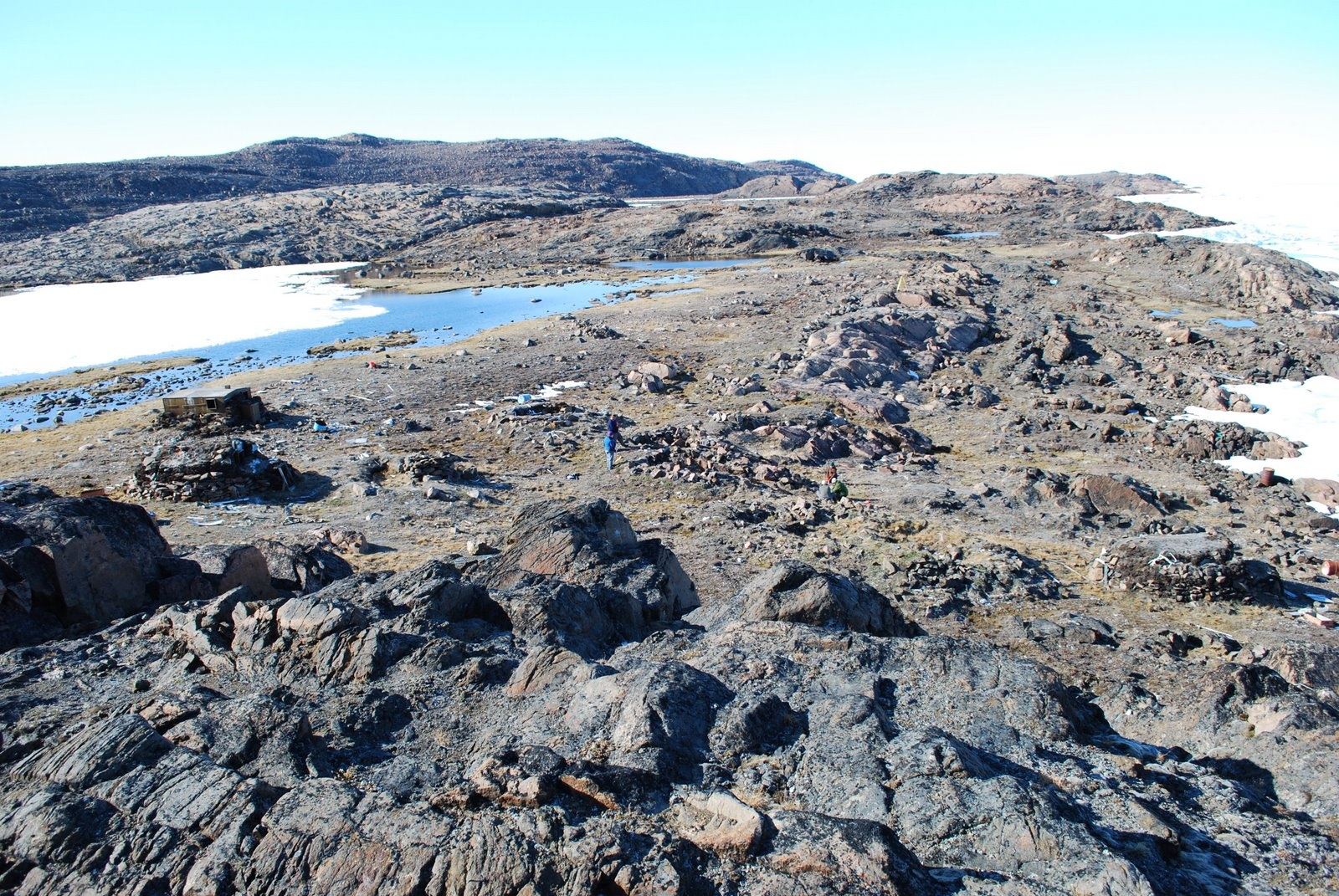 """""""The office."""" Site of the 2009 field work. Photo courtesy Christyann Darwent."""