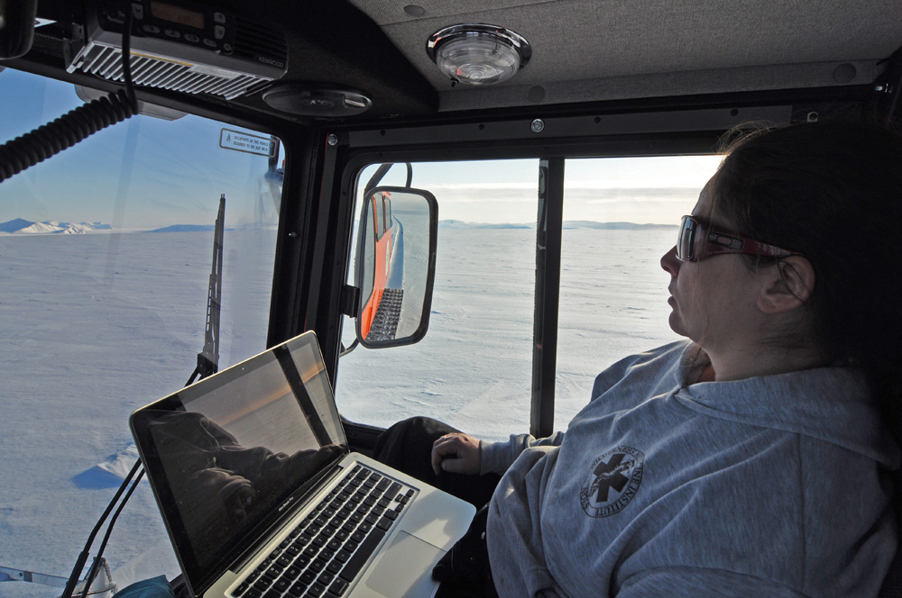 Jen checking sat image