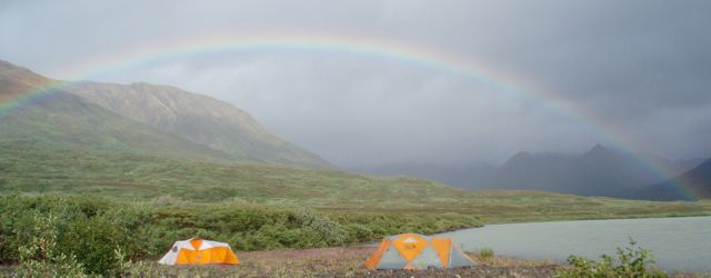 Rainbow, Cascade Lake