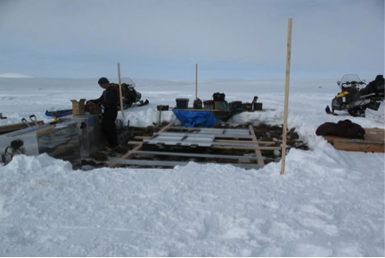 We had to erect a platform on spongy tundra that can hold a couple of tons of weight.