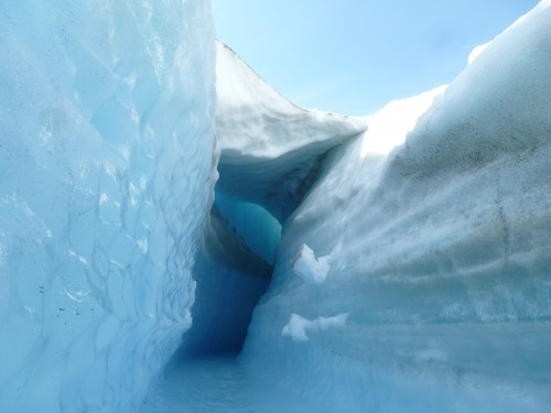 "Melt water carves blue ice on the edge of the Greenland ice sheet. Photo: Antoine ""Twan"" Moreno"