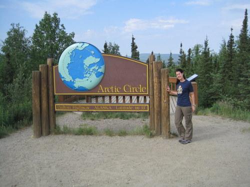 Self portrait. Chicago-based science teacher is spending the summer in Toolik, Alaska, as part of the PolarTREC program. Photo: Nell Kemp