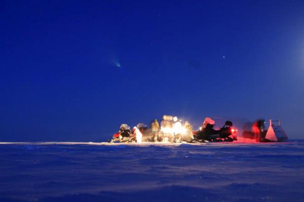 Afternoon sampling on the Barrow fast ice. Photo: Brandon Hassett