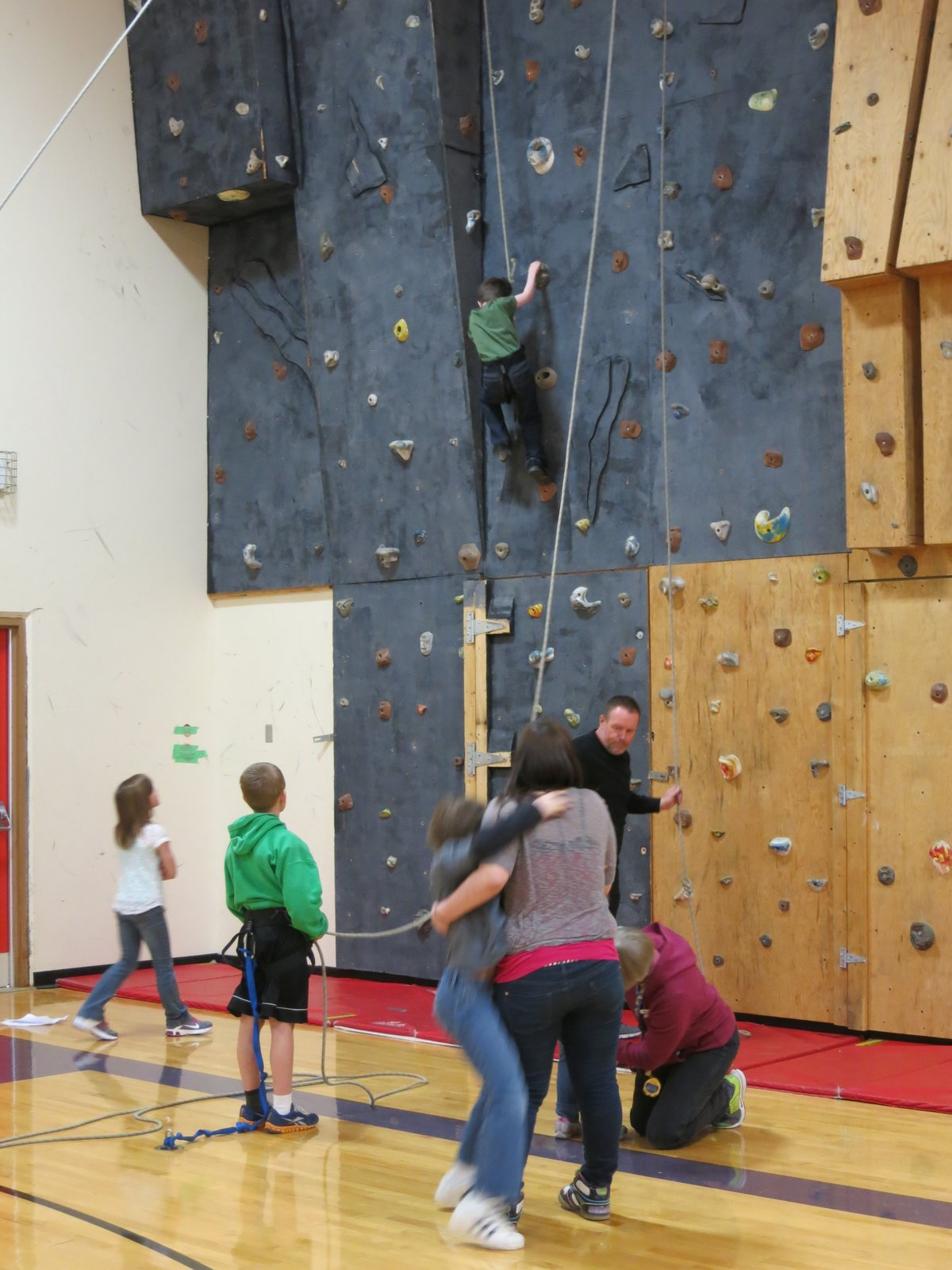 Despite their isolation, most of the rural schools are like their more urban counterparts, including having gyms with rock climbing walls.