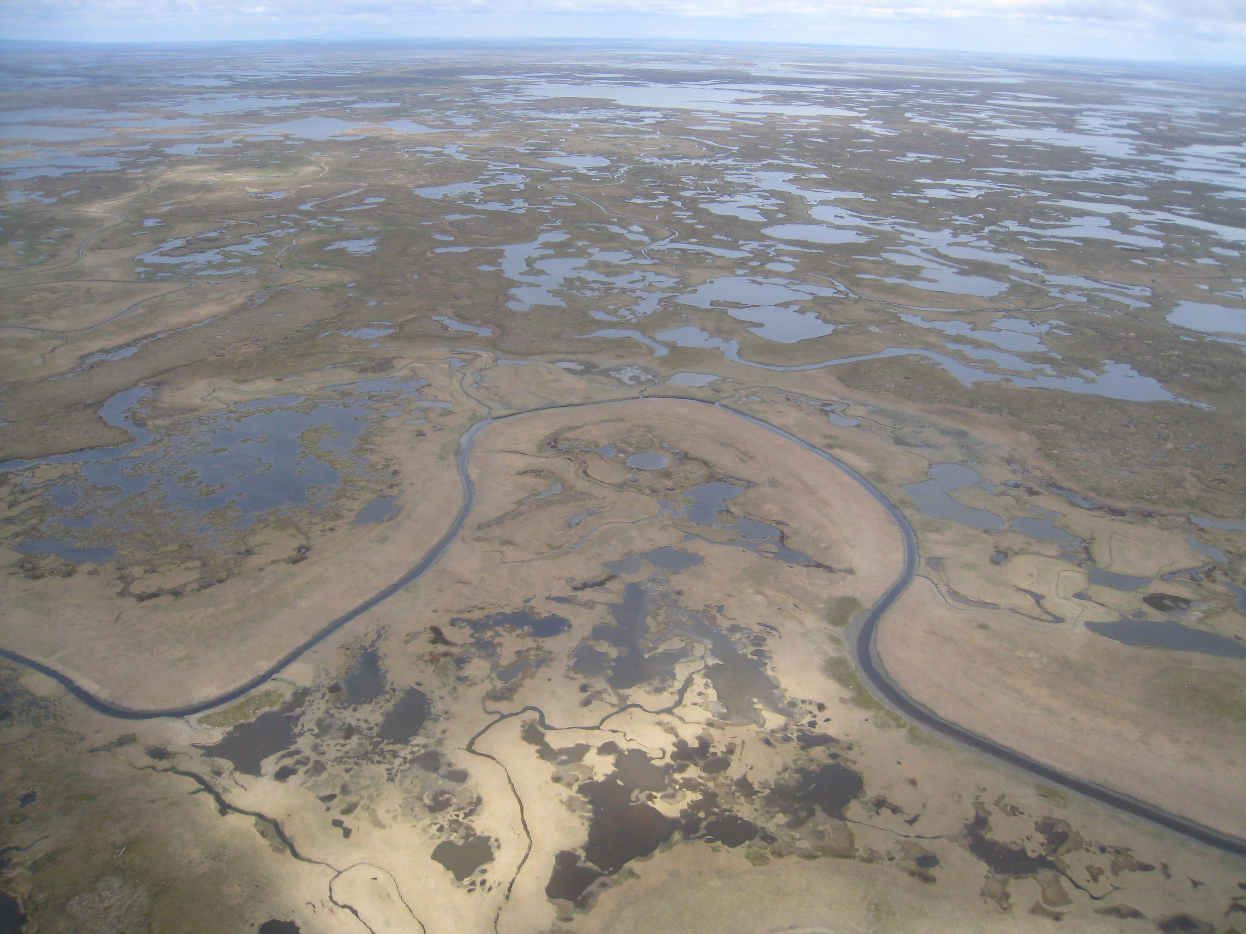 An aerial view of the Yukon-Kuskokwim Delta in western Alaska. All photos: Karen Beard