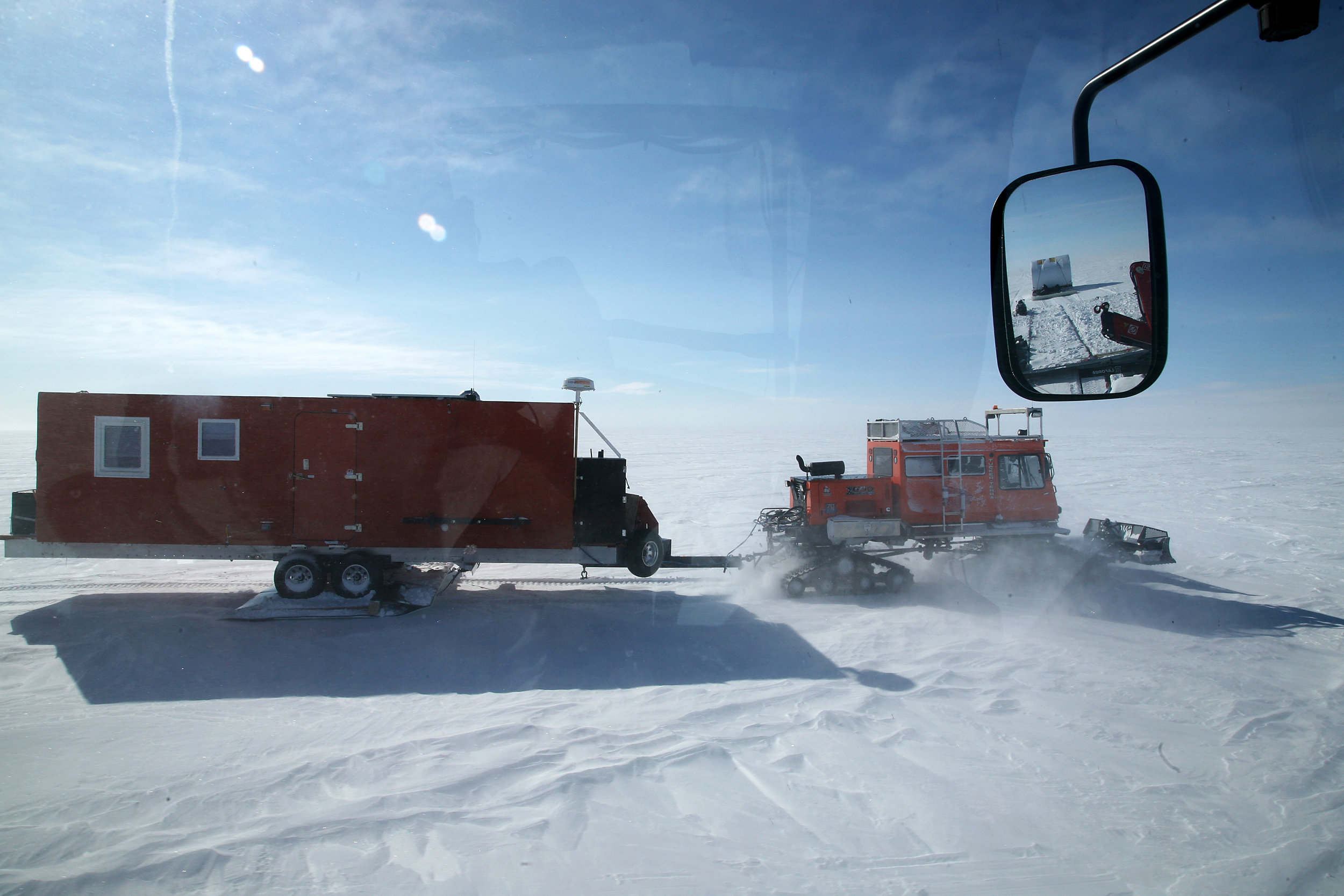 Hauling extensive amounts of fuel and equipment across the Greenland Ice Sheet is hard, but not impossible, as evidenced by the success of the 2012 Greenland Inland Traverse. Image: Ed Stockard