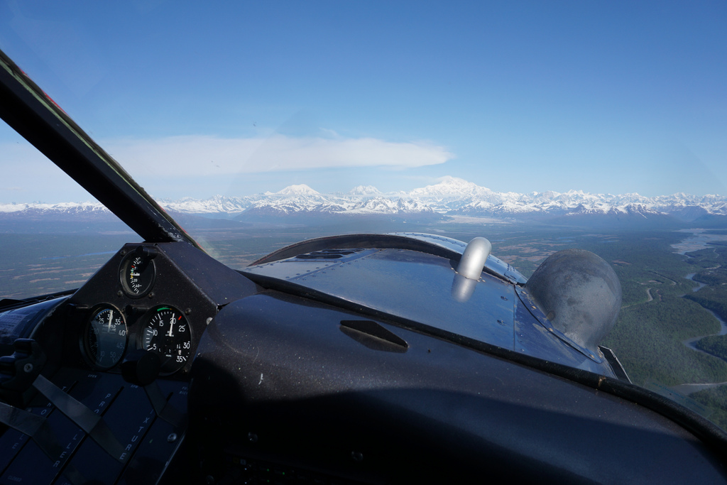 Flying into the Ruth Glacier from Talkeetna. All photos courtesy Miles O'Brien.