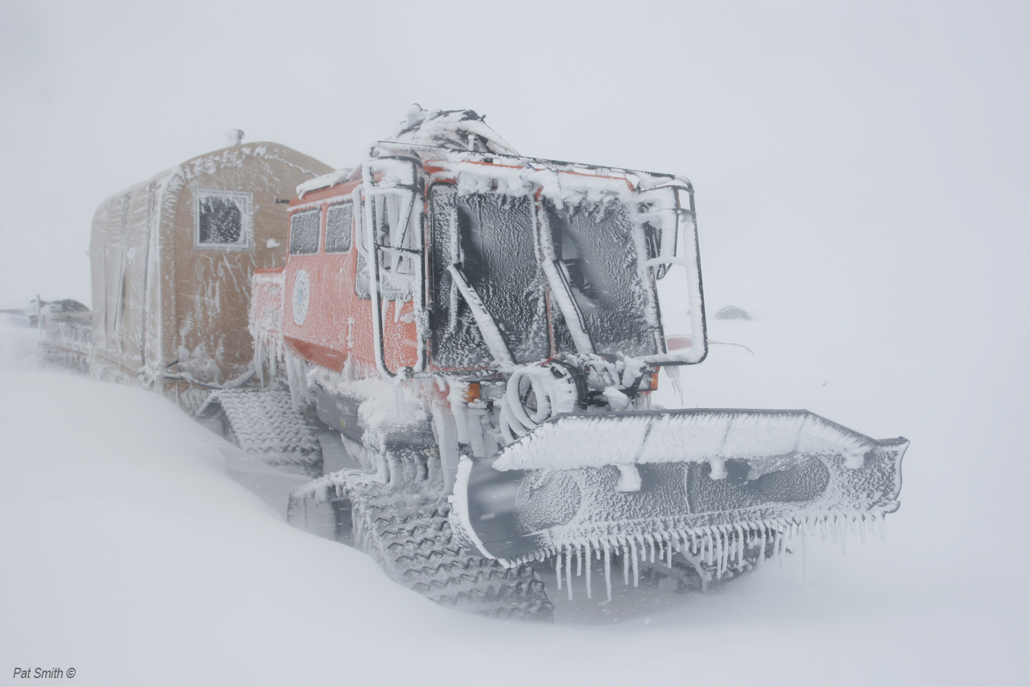 As the team nears Thule, they've encountered significant snowstorms, similar to the one pictured here from 2011, which are slowing their progress. Photo: Pat Smith