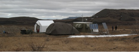 Ground zero: Camp Ivotuk, population three. The crew timed it to get in just after the majority of snow melted and before the mosquitos exploded.