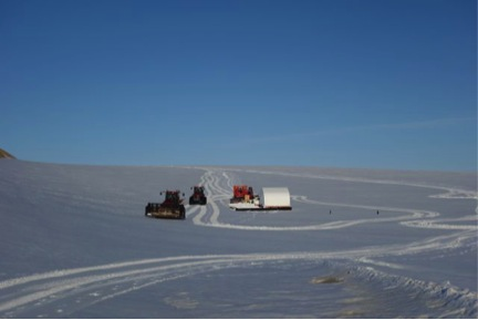 The GrIT team made it back to Thule on June 3,. Here they are at the edge of the ice. Photo courtesy Geoff Phillips
