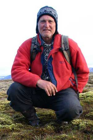 Skip Walker in the environment he loves most. Photo: Alaska Geobotanty Center