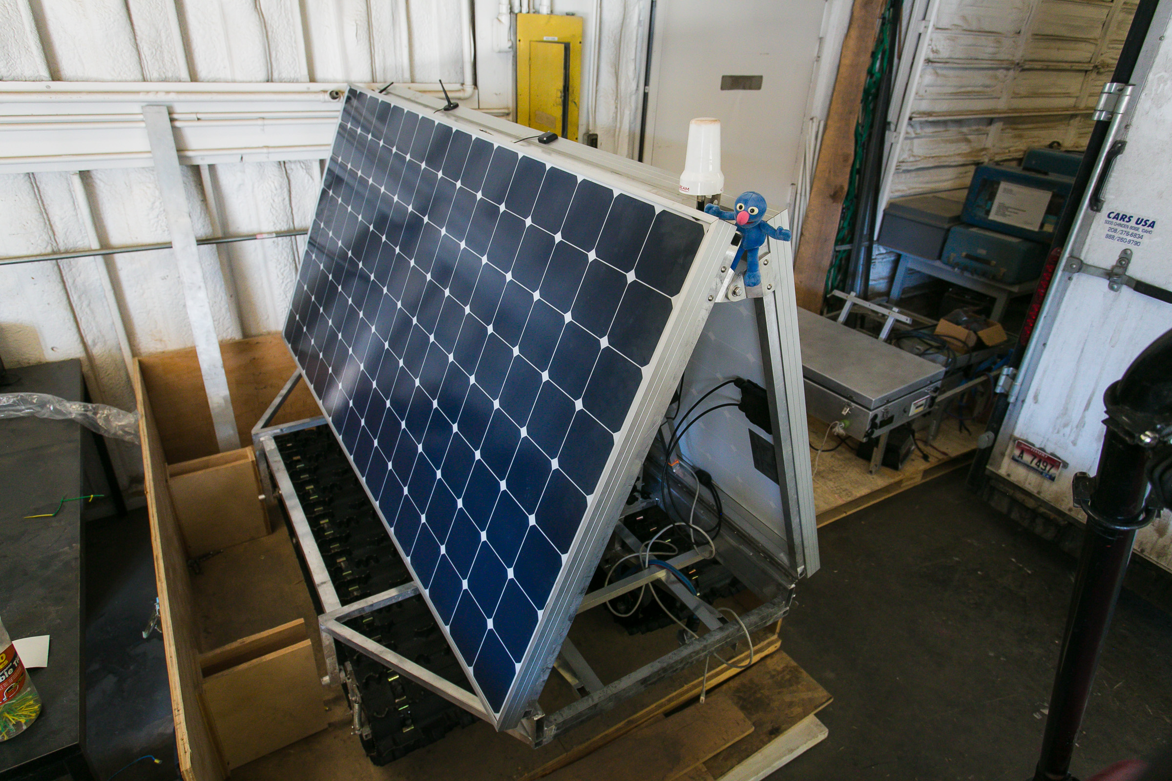 The new solar panels give GROVER 40 percent more power and enable the robot to travel a much greater distance on a single charge. Photo: Rachel White