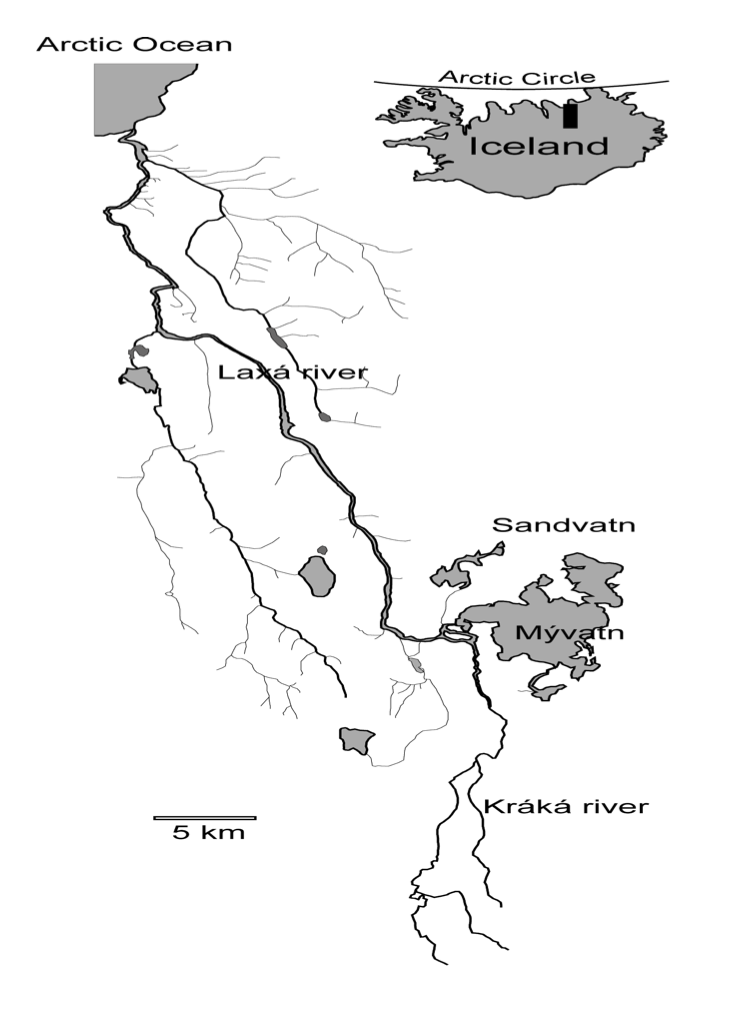 Location Map of the Myvatn area