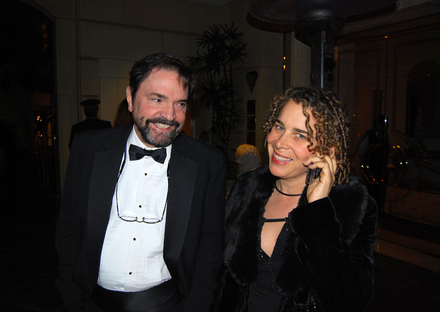 Phillip Schopper, editor of Body of War and Ellen Spiro at the Producers Guild Awards nomination ceremony at the Beverly Hills Hilton
