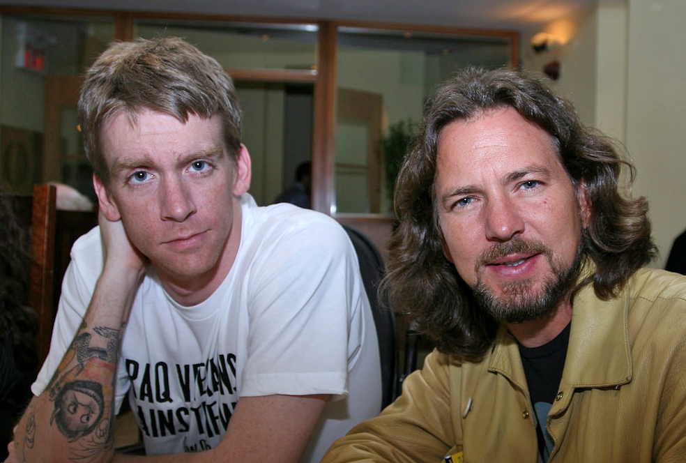 Tomas Young, protagonist of 'Body of War', and Eddie Vedder, composer of original songs for the film
