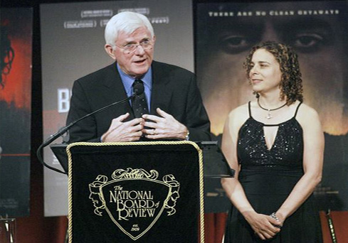Phil Donahue and Ellen Spiro receive Best Documentary Award of 2007 for Body of War at National Board of Review Awards Gala at Cipriani's in NYC