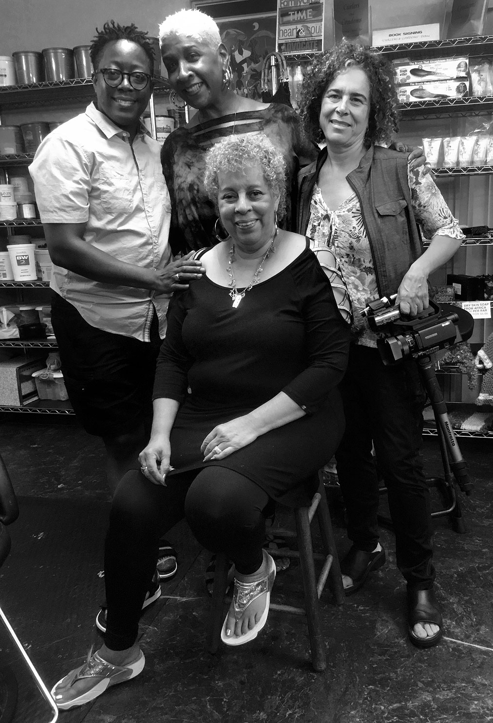 Director Cheryl Dunye, Dr. Bambi Gaddist, DiAna DiAna and Director Ellen Spiro