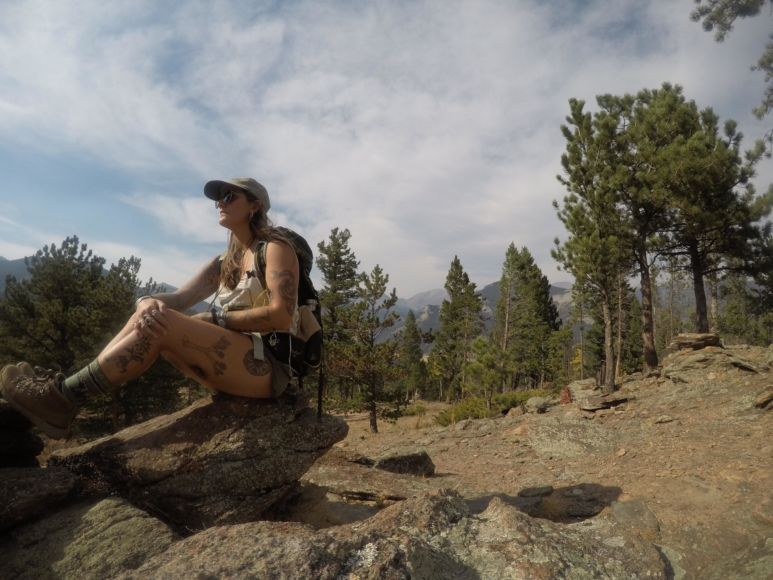 solo hiking at Rocky Mountain National Park