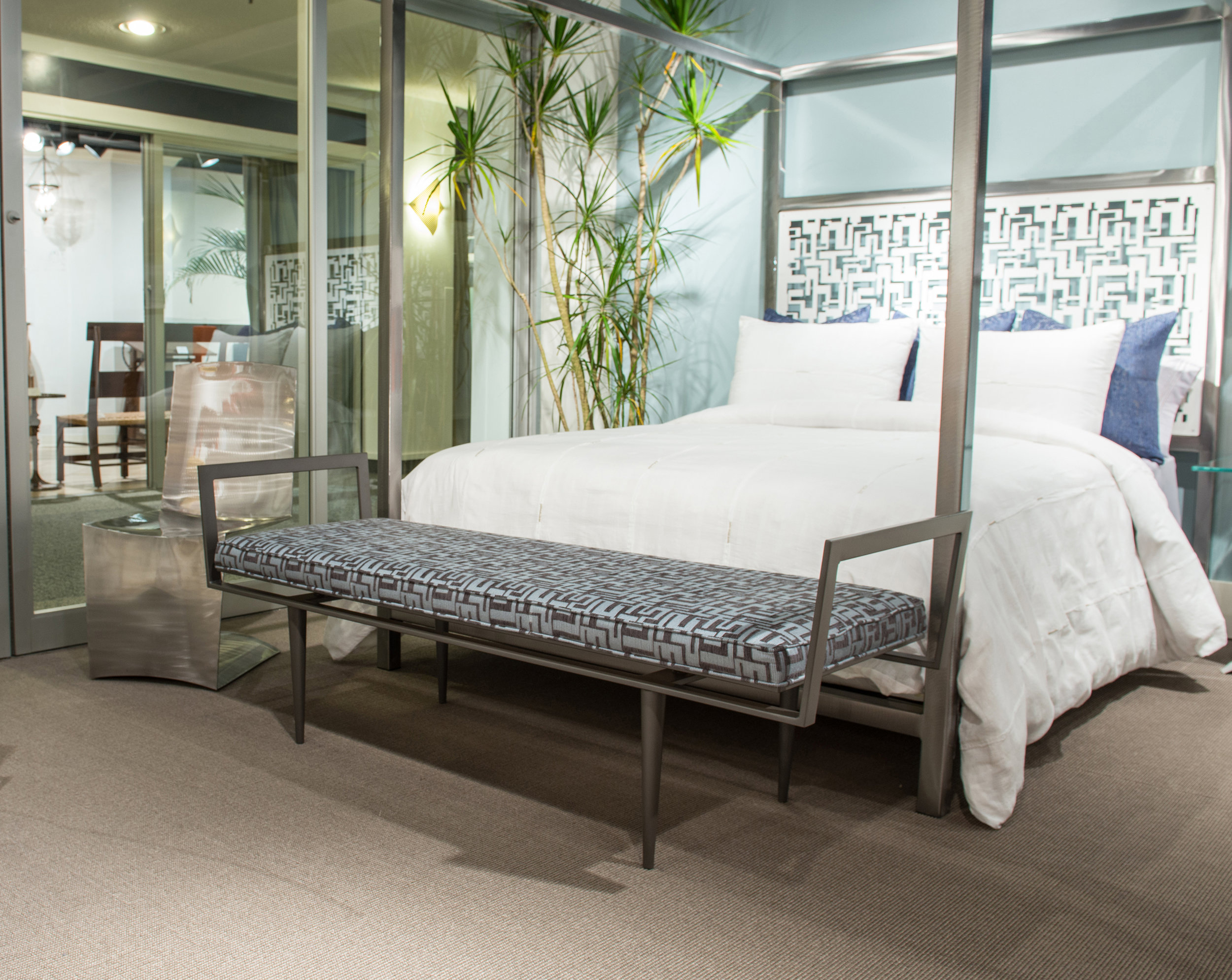 Zia Bench and Luxor Canopy Bed