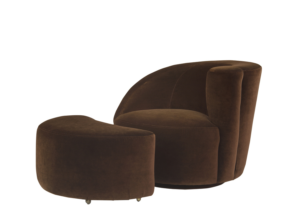 Scroll Corkscrew Swivel Chair