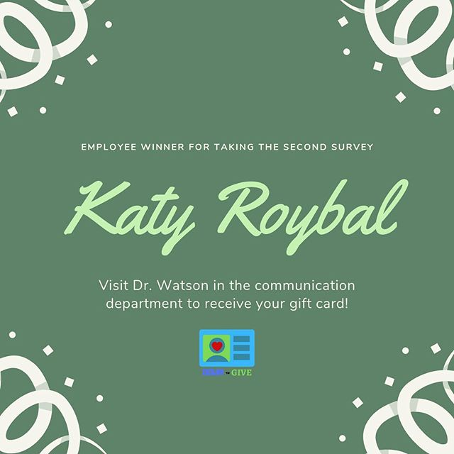 Congratulations to our very own Kayla Roybal for winning a gift card after taking our second survey about organ donation! #DownToGive