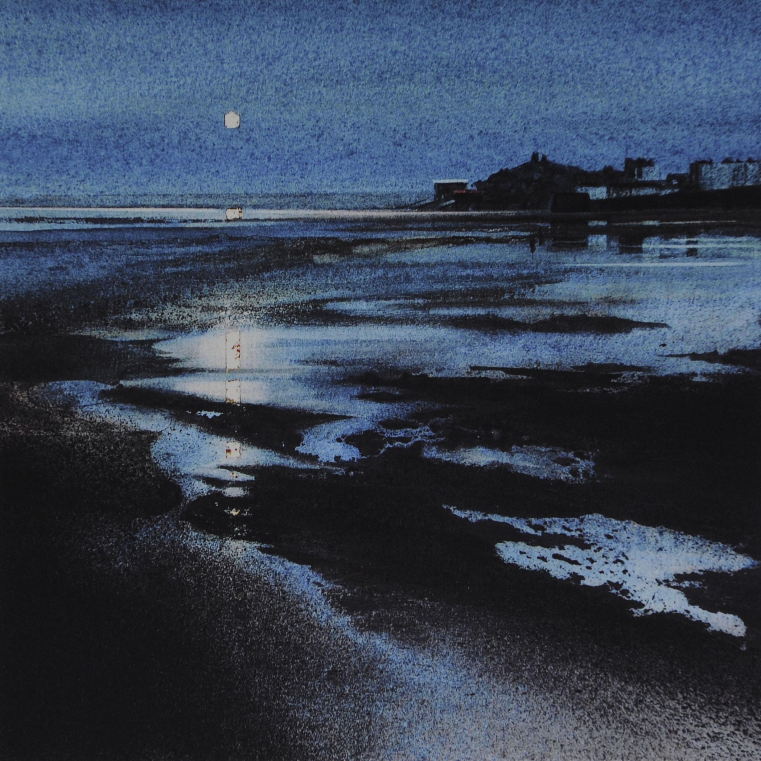 Blue Moon, Tenby 7 x 7 in £50
