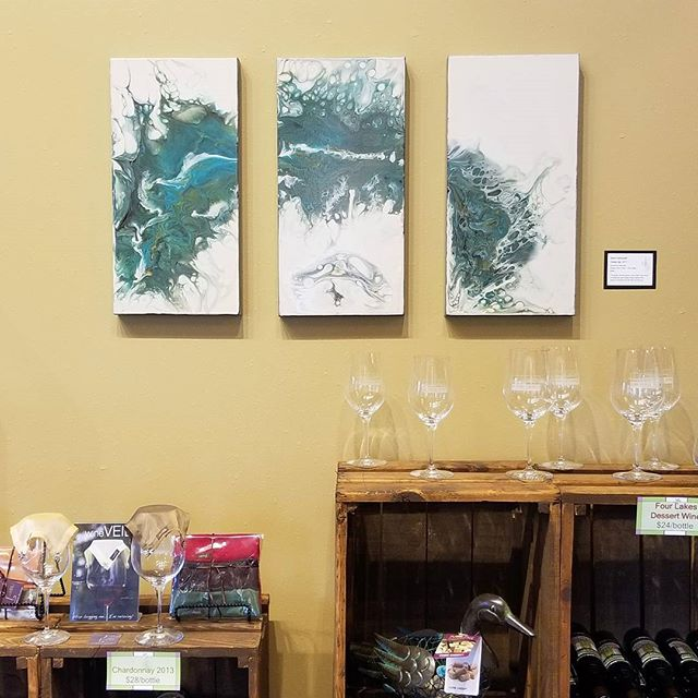 """Close Up""  Triptyc of three 10""×20"", 1.5"" deep gallery wrapped canvases. $360 + s/h  Currently on display @DrumlinRidgeWinery and available for purchase. DM for purchasing info."