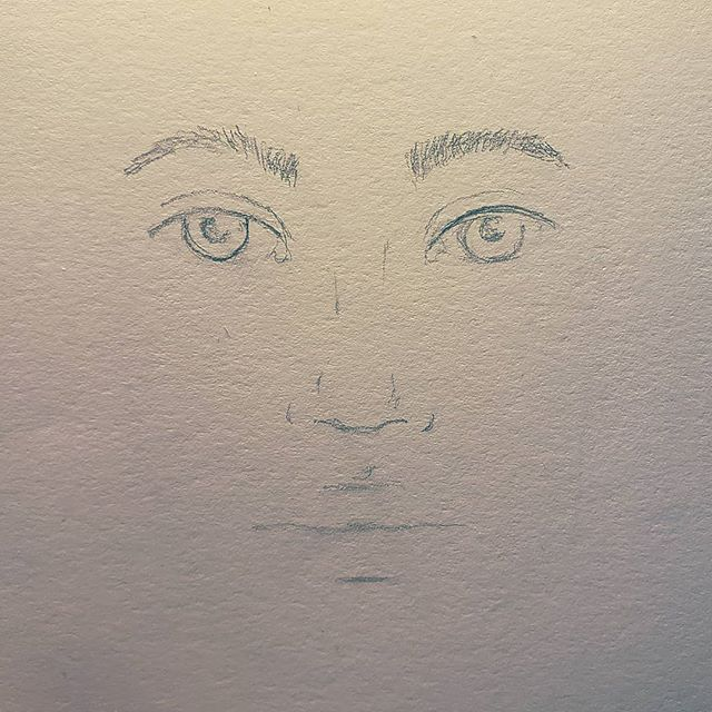 New art practice plan - I will always do a minimum of 15 minutes every day if something creative. . . With that said, here's a quick floating face I did very quickly. :) . . #gettingbetter #feelingmoreconfident #draweverday #portraiture #sketch #dailypractice