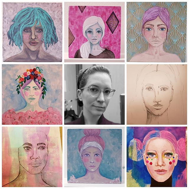 Loving this latest hashtag trend #artvsartist2019 . So much beautiful #portraiture work up! Happy Hump day, Instagramers! May you all have a rosey cheek kind of day!!