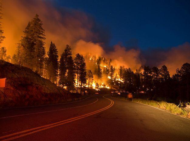 Little Bear Fire, burning operation on 532 Road, June 13, 2012, Photo by Kari Greer/USFS