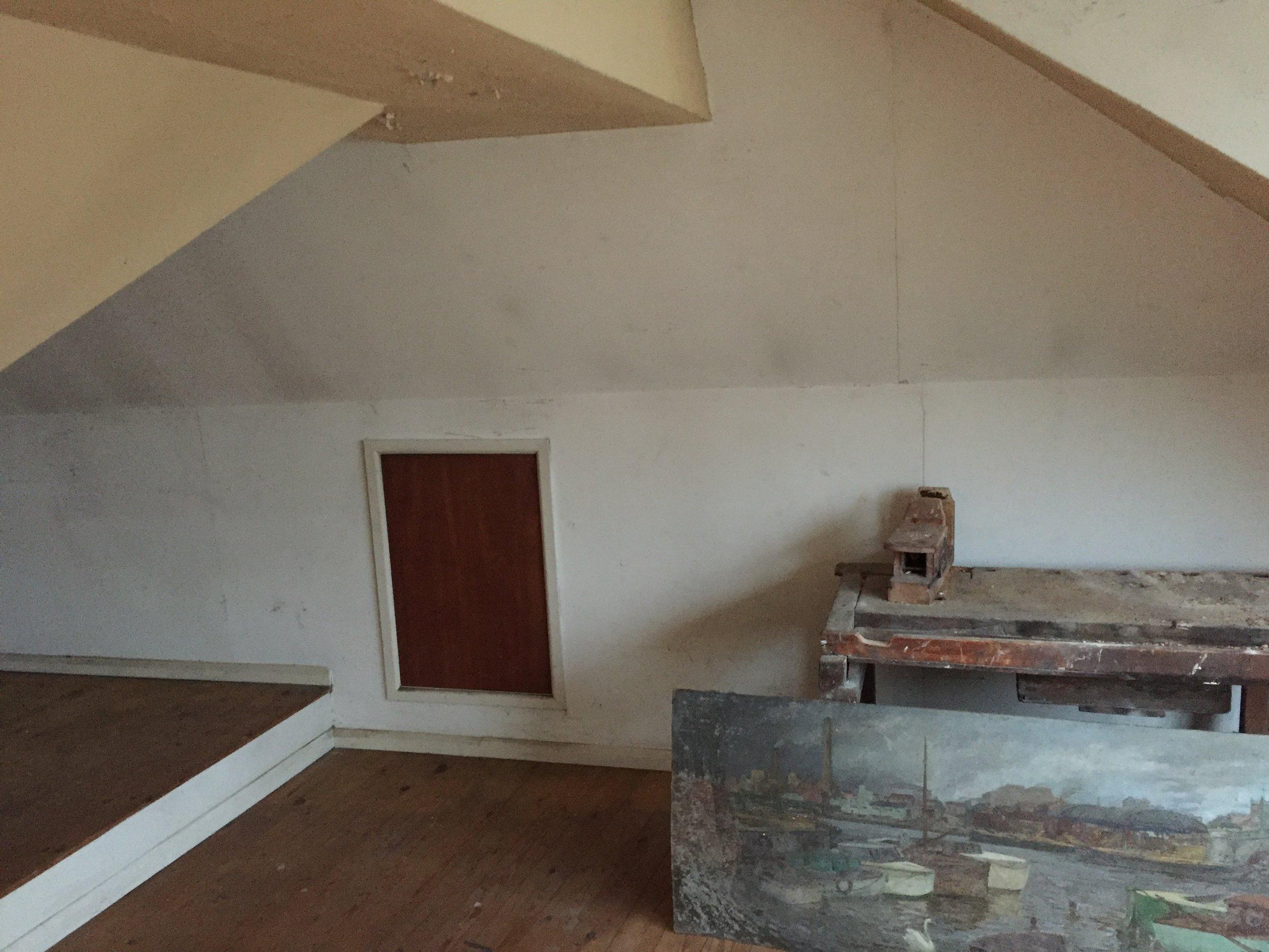 - The original loft space.
