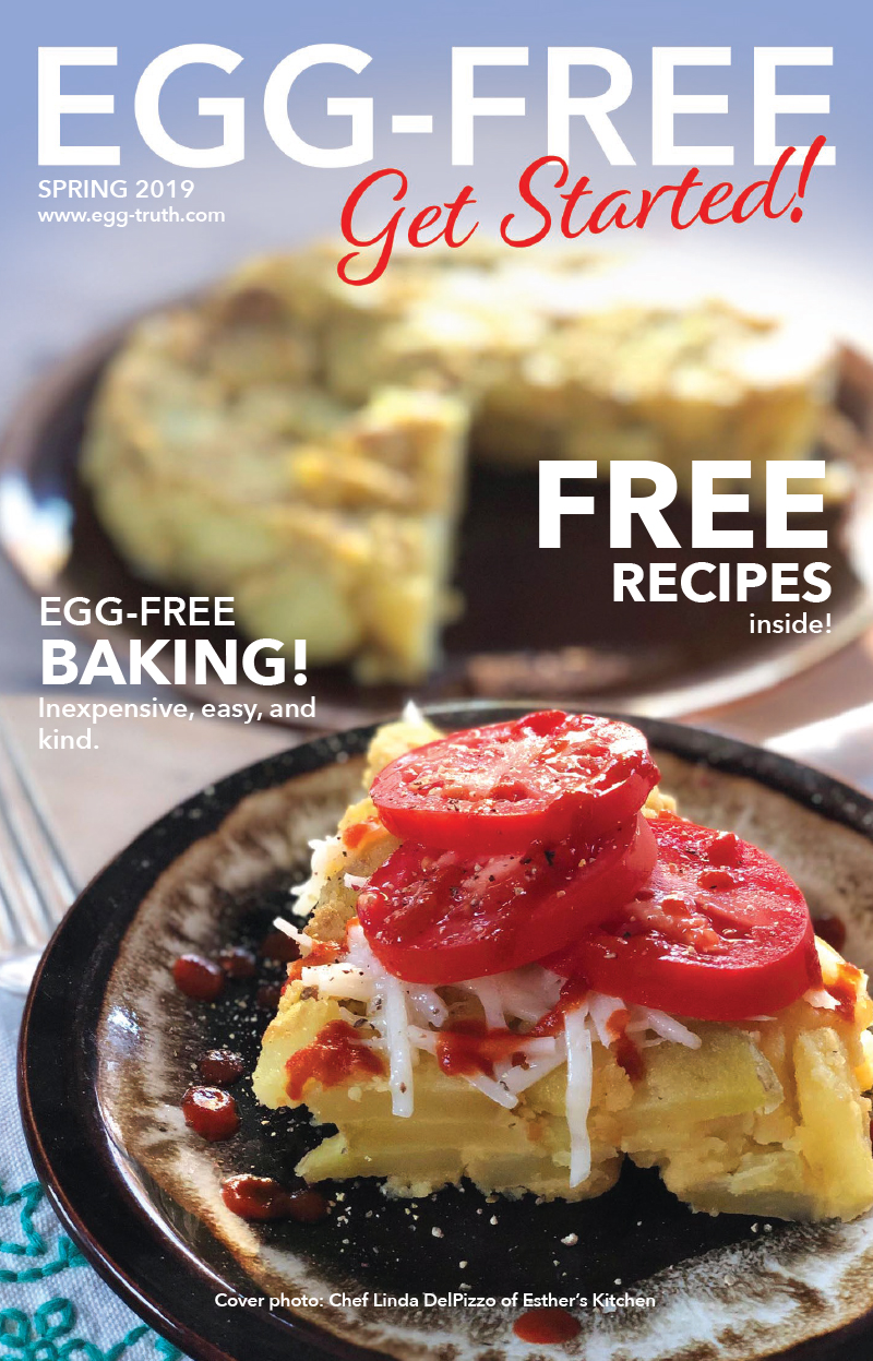 Click on the image above for your FREE, downloadable, 8-page PDF containing some great, egg-free recipes and baking tips!