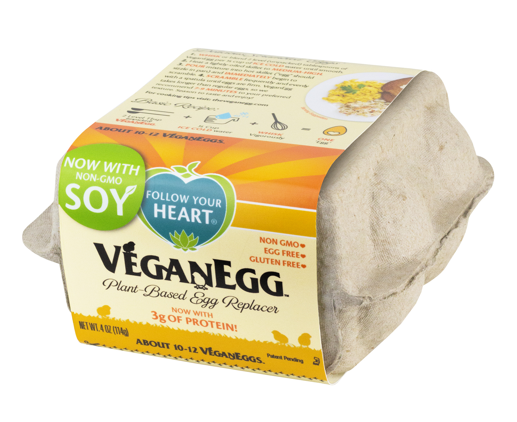 "Follow Your Heart's    ""VeganEgg""."