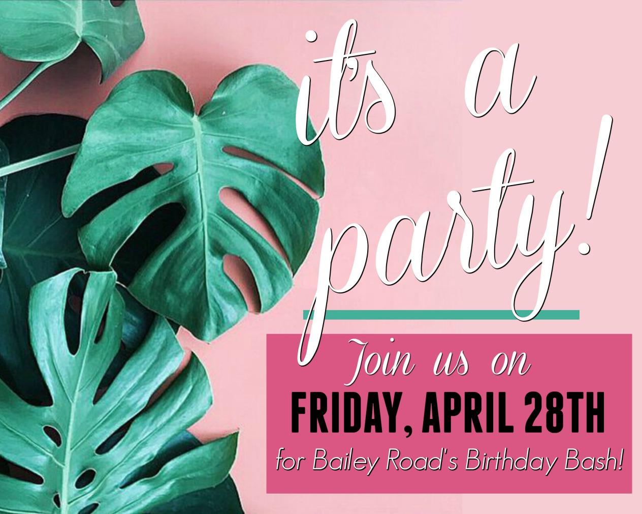 Birthday Event Invitation and marketing materials