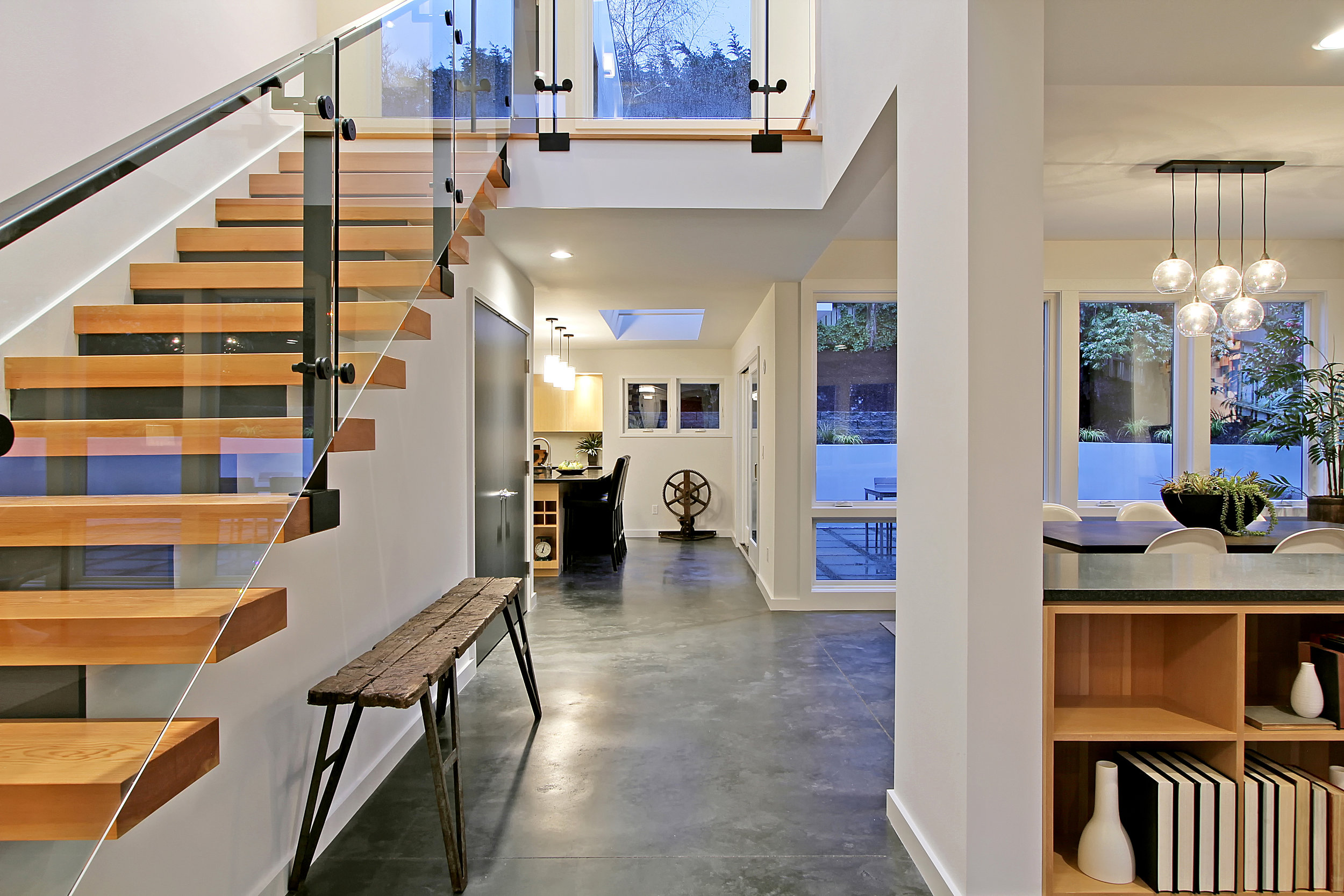 Double Height Open Stair