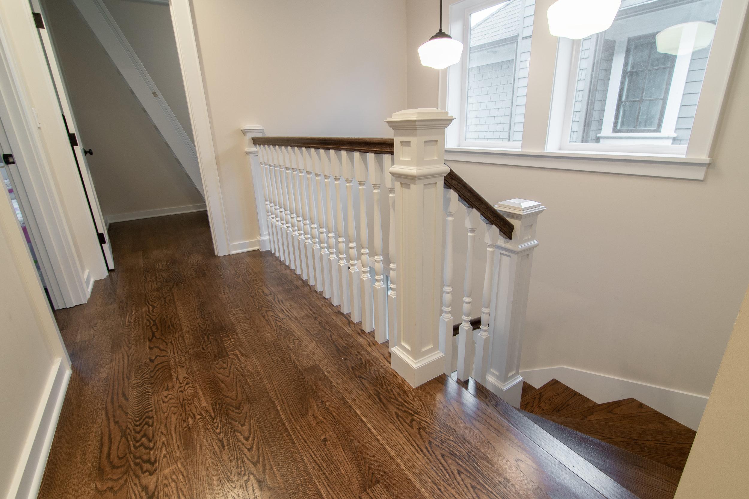 Queen Anne Modern Victorian Remodel Wood Stair