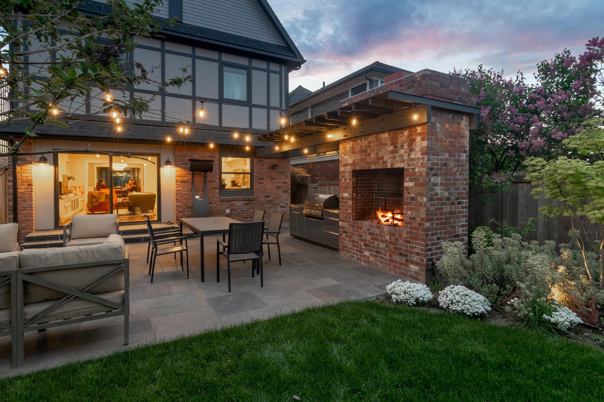 Modern Brick Backyard BBQ