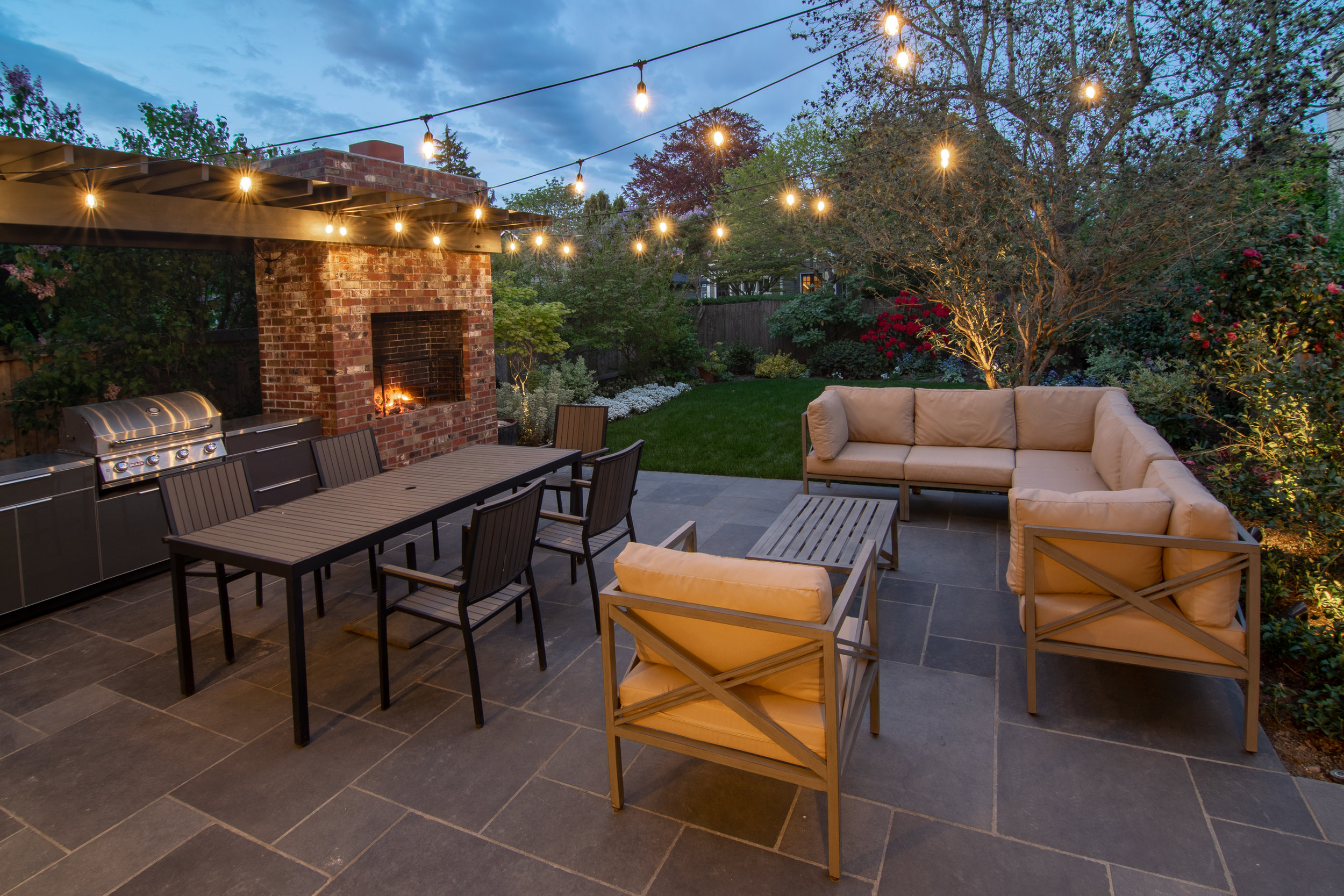 Patio and Modern Brick BBQ