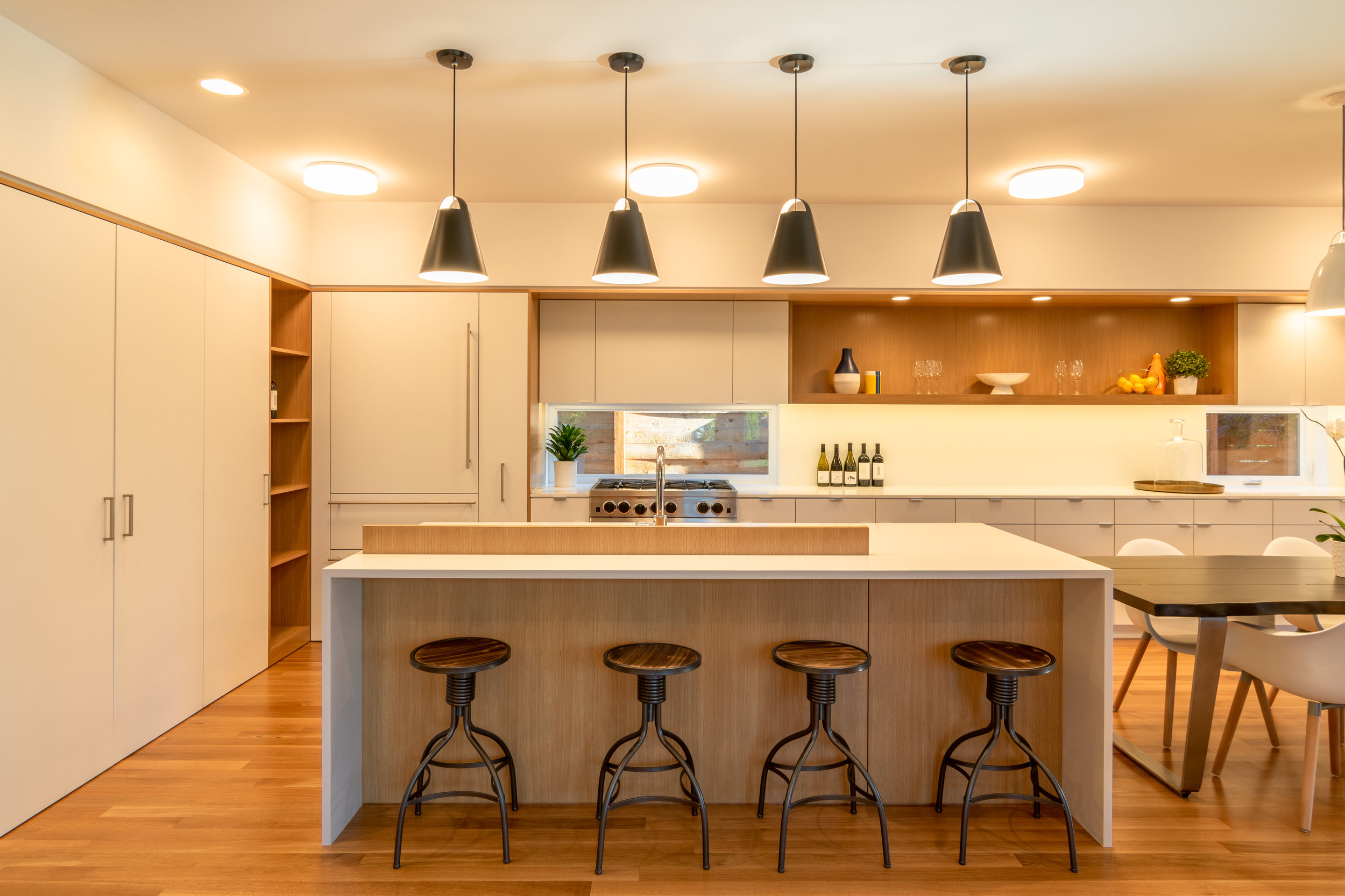 Garden House Kitchen Island and Pantry