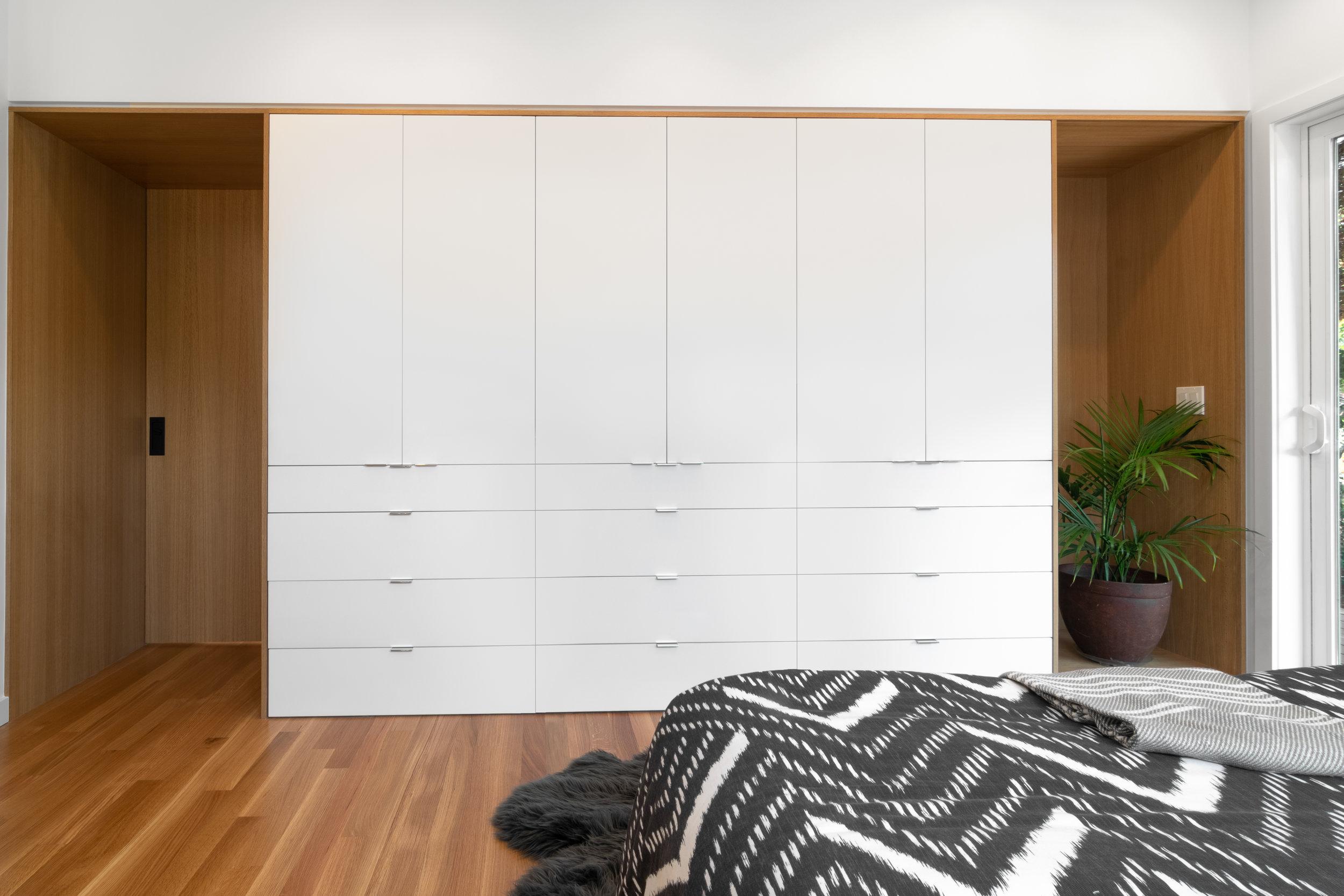 Master Bedroom custom built in closet cabinet