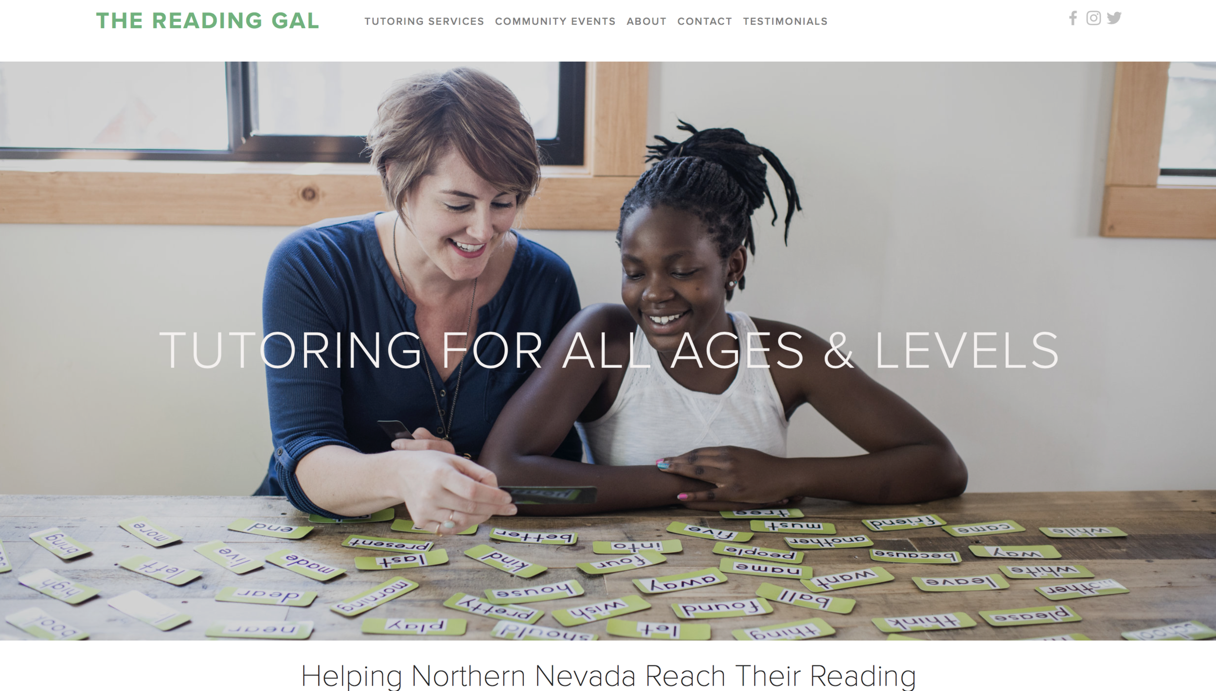 The Reading Gal — Tutor