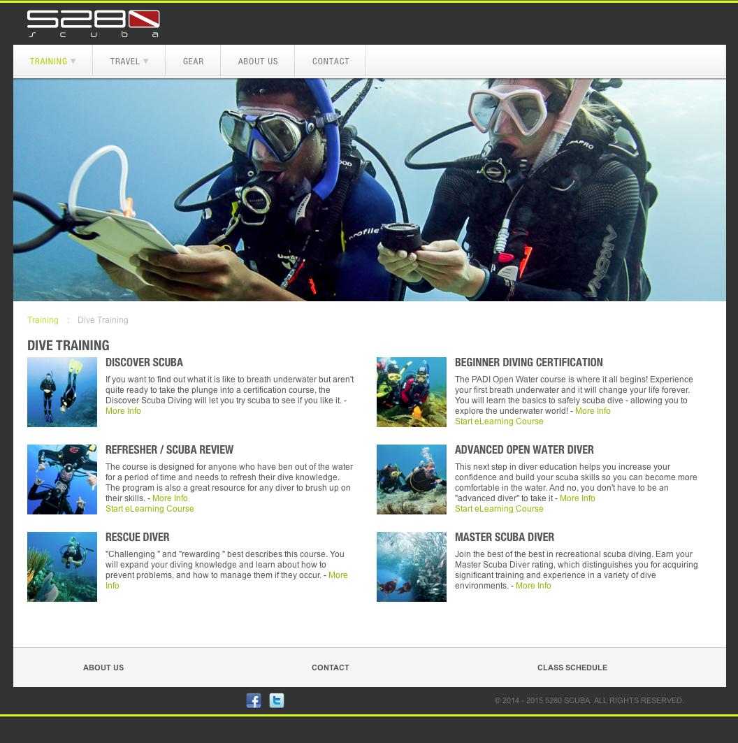 5280 Scuba Website