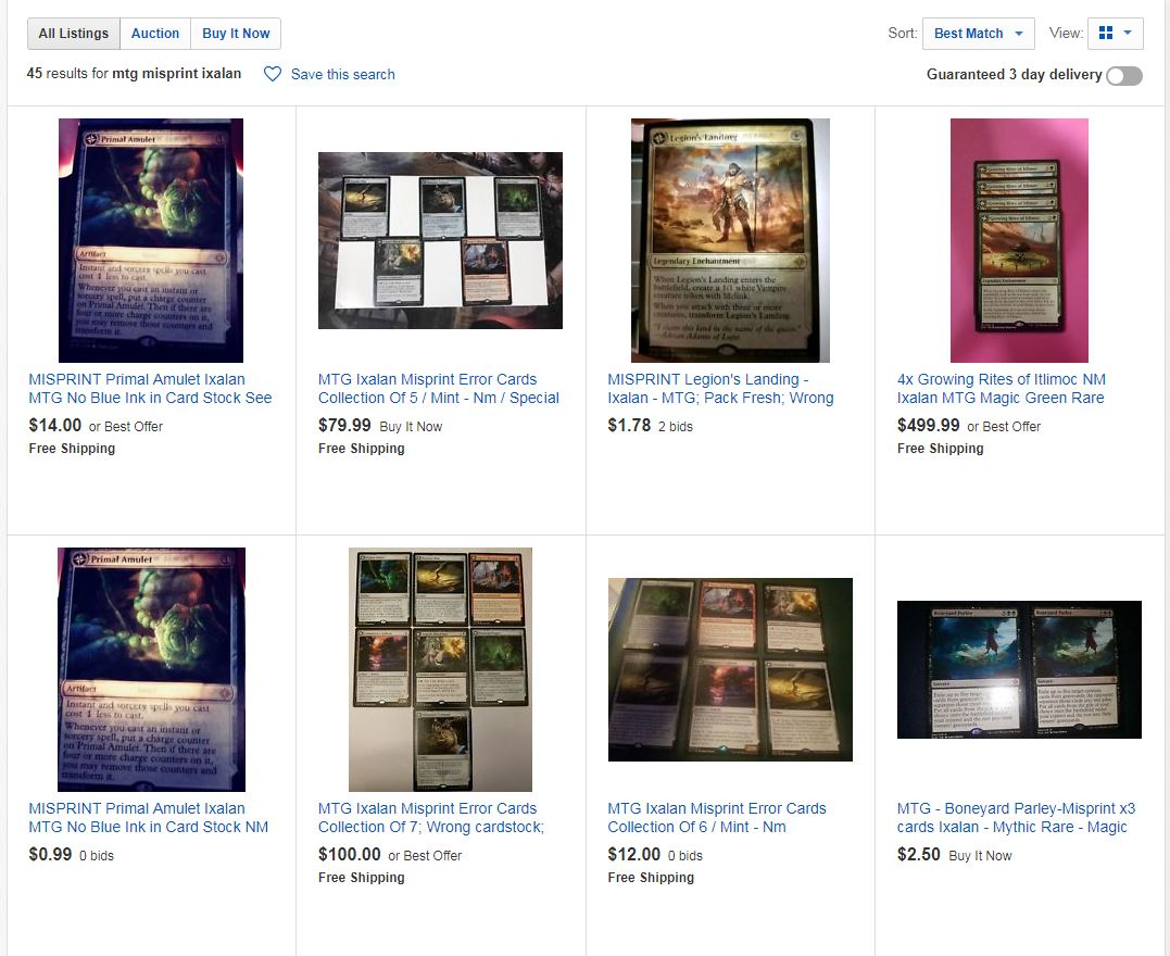 Holy crap!  Only $500 for a playset of misprinted Growing Rites?  Sign me up!  **even harder facepalm**