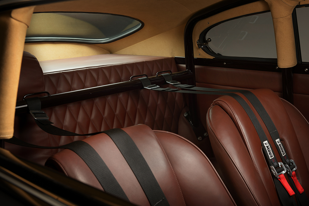 Full Connolly aniline leather interior with bespoke quilting